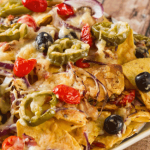 Nachos With Cheese & Bacon